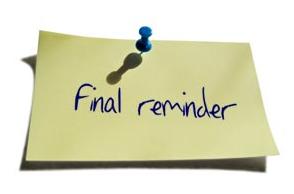 Final Reminder